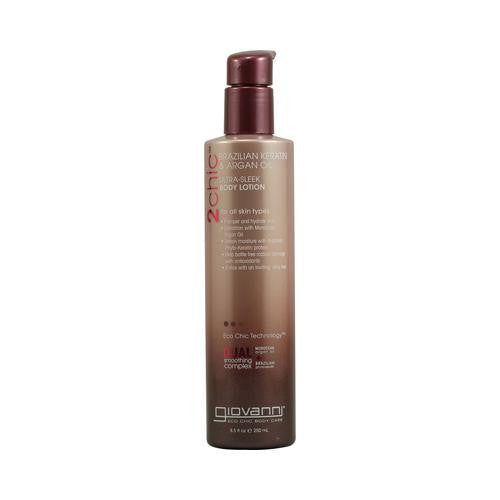 Giovanni 2chic Ultra-sleek Body Lotion With Brazilian Keratin And Argan Oil - 8.5 Fl Oz-Giovanni Hair Care Products-pantryperks