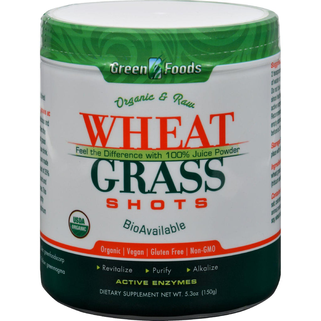 Green Foods Organic and Raw Wheat Grass Shots - 5.3 oz-Green Foods-pantryperks