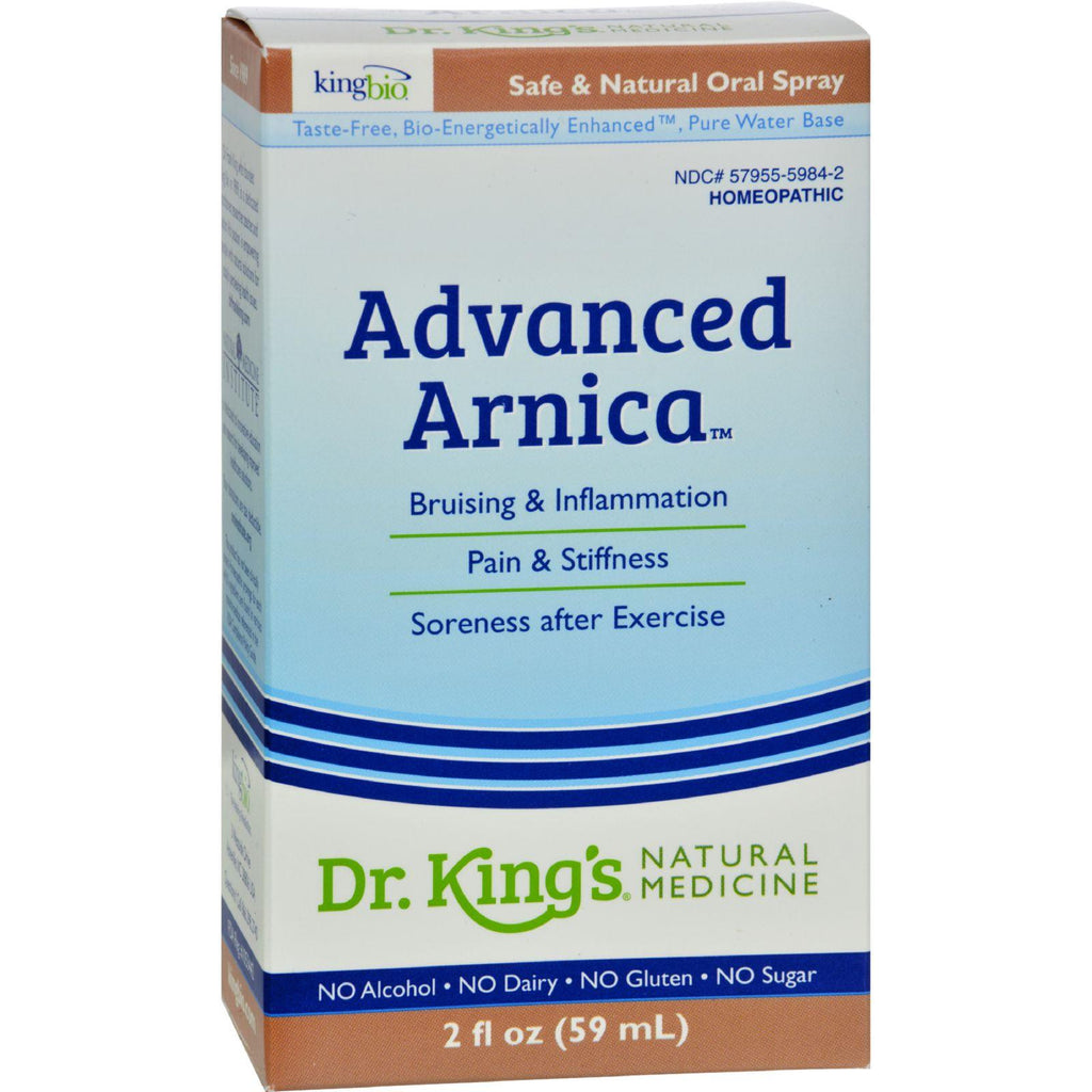 King Bio Homeopathic Advanced Arnica - 2 Fl Oz-King Bio Homeopathic-pantryperks
