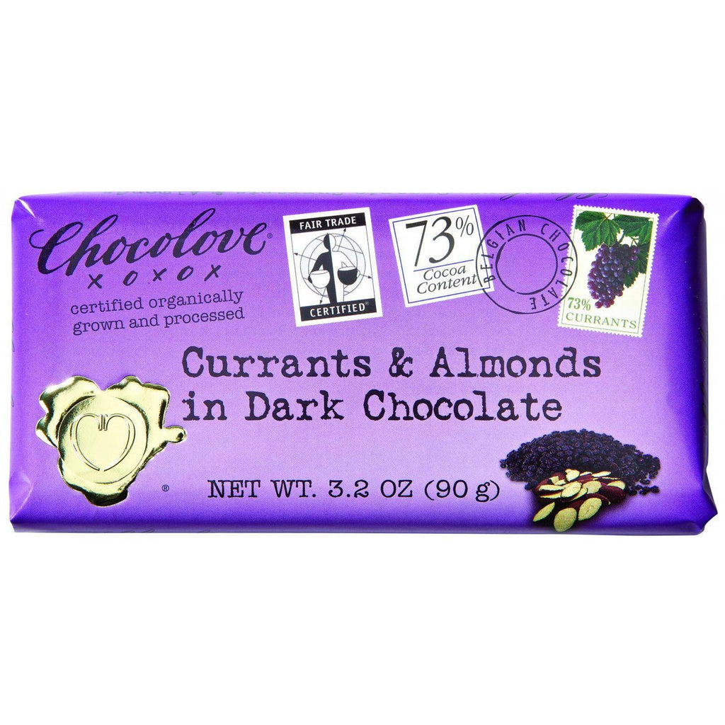 Chocolove Dark Chocolate Bar Currants and Almonds - 3.2 oz-Chocolove Xoxox-pantryperks