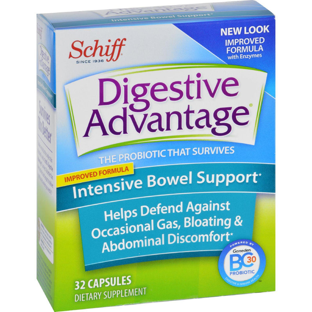 Schiff Intensive Bowel Support - 32 Capsules-Schiff Vitamins-pantryperks
