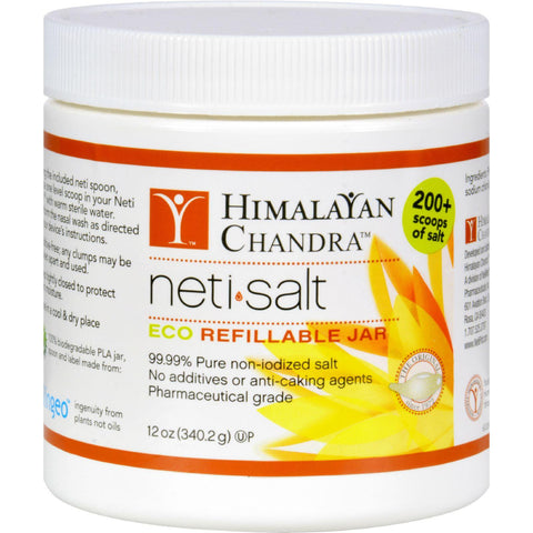 Himalayan All Natural Neti Salt Eco Refillable Jar - 12 oz-Himalayan Institute Press-pantryperks