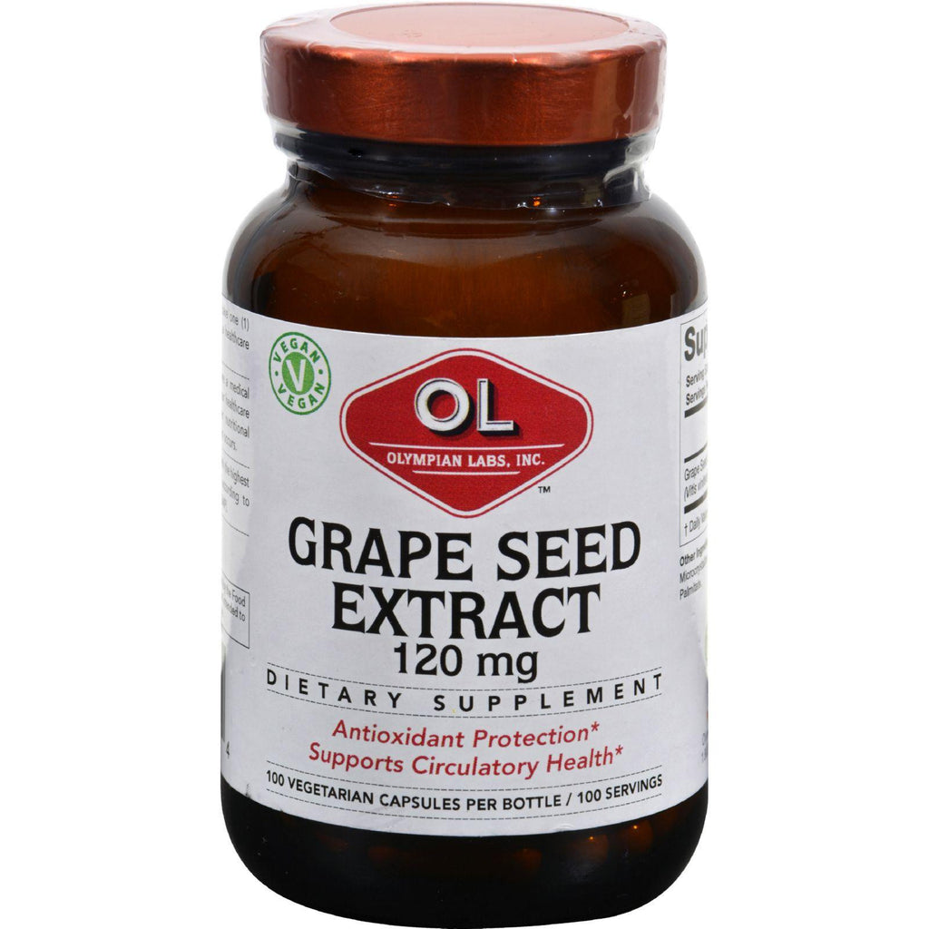 Olympian Labs Grape Seed Extract - 120 Mg - 100 Capsules-Olympian Labs-pantryperks