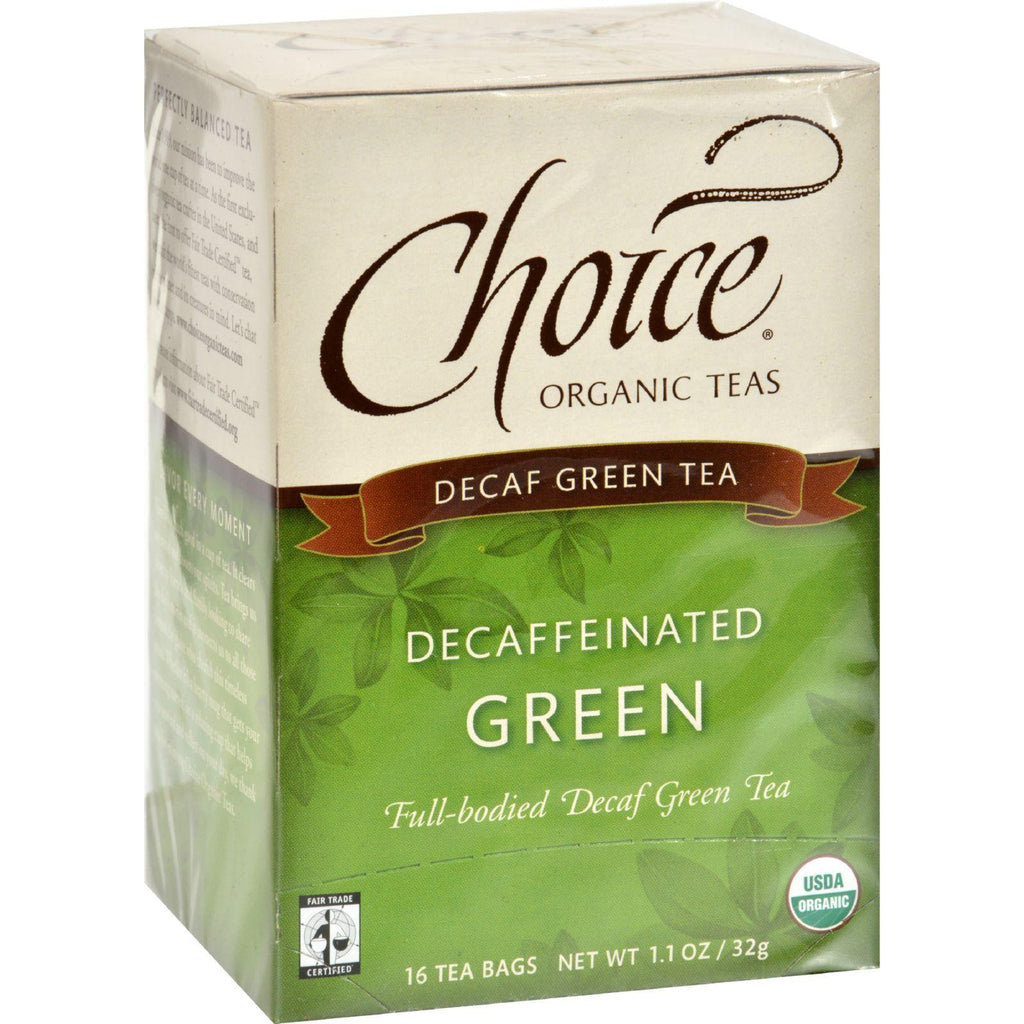 Choice Organic Teas Decaffeinated Green Tea - Case Of 6 - 16 Bags-Choice Organic Teas-pantryperks