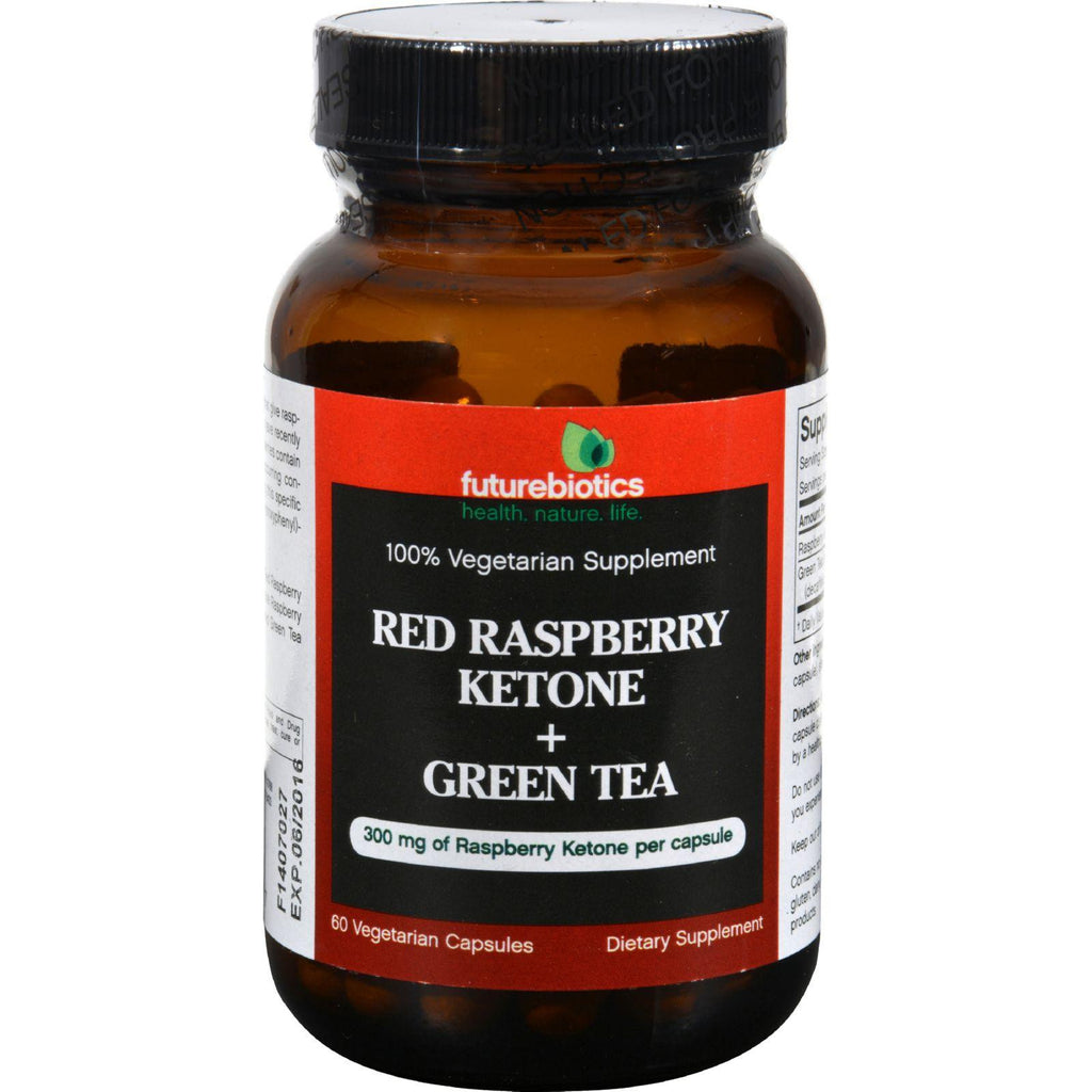 Futurebiotics Raspberry Ketone Plus Green Tea - 60 Vegetarian Capsules-Futurebiotics-pantryperks