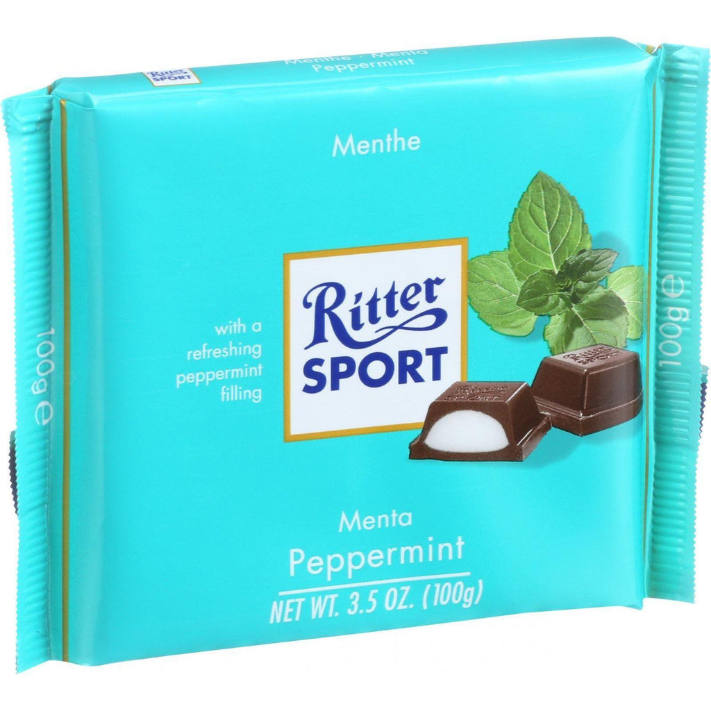 Ritter Sport Chocolate Bar - Dark Chocolate - Peppermint - 3.5 Oz Bars - Case Of 12-Ritter-pantryperks
