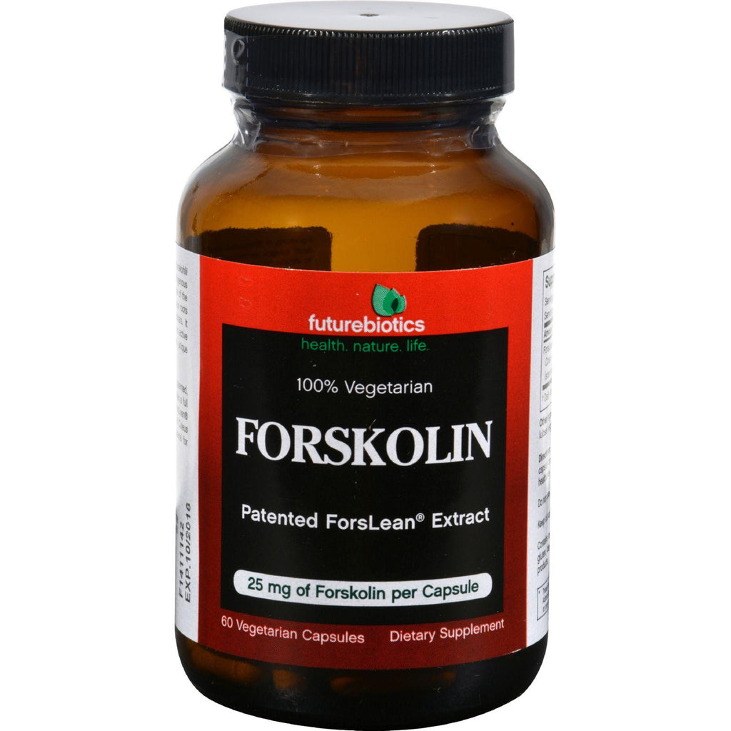 Futurebiotics Forskolin - 25 Mg - 60 Vegetarian Capsules-Futurebiotics-pantryperks