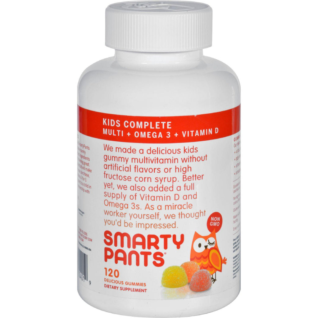 SmartyPants Kids Complete Gummy Vitamins: Multivitamin & Omega 3 Fish Oil - DHA/EPA Fatty Acids - Vitamin D3 - Methyl B12 - 120 Count - 30 DAY SUPPLY-Smartypants-pantryperks