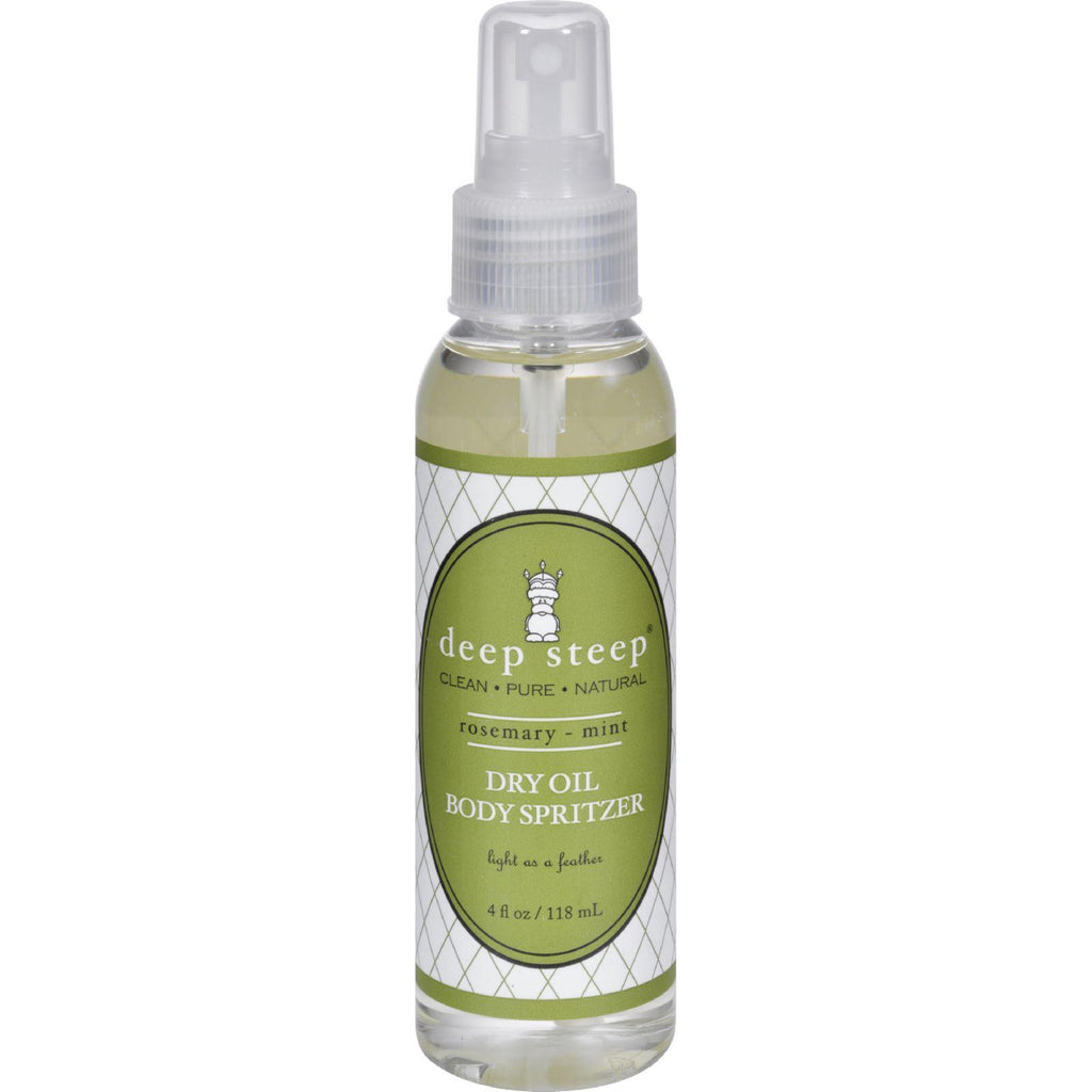 Deep Steep Dry Oil Body Spritzer - Rosemary Mint - 4 Fl Oz-Deep Steep-pantryperks