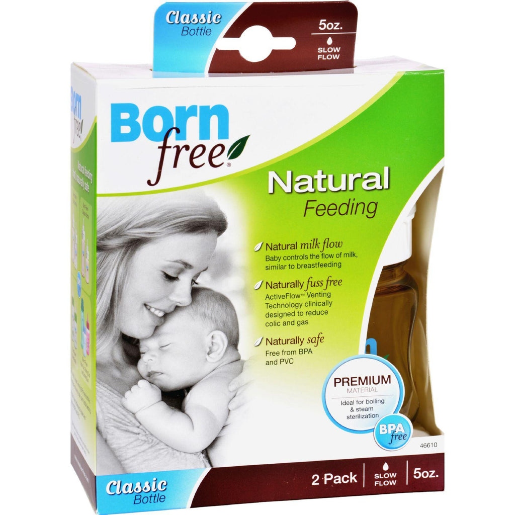 Bornfree Wide Neck Bottles - 2 Pack - 5 Oz-Bornfree-pantryperks
