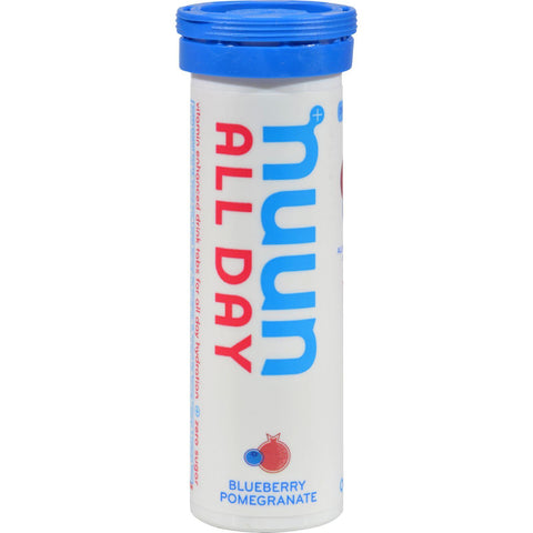 Nuun Hydration Tablets All Day - Blueberrry Pomegranate - Case Of 8 - 16 Tablets-Nuun Hydration-pantryperks