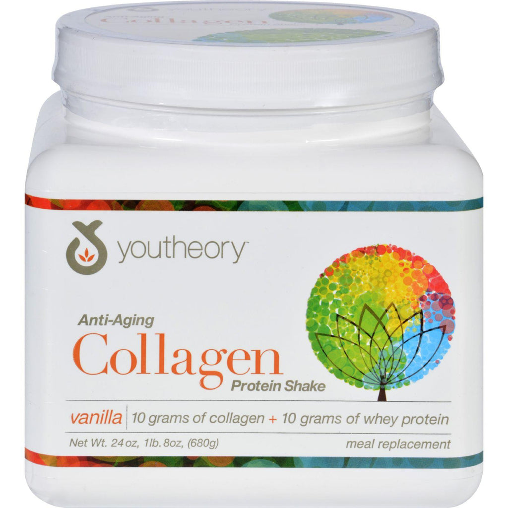 Youtheory Protein Shake - Collagen - Anti-aging - Vanilla - 24 Oz-Youtheory-pantryperks