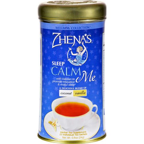 Zhena's Gypsy Tea Calm Me Coconut Van - Case Of 6 - 22 Bags-Zhena's Gypsy Tea-pantryperks