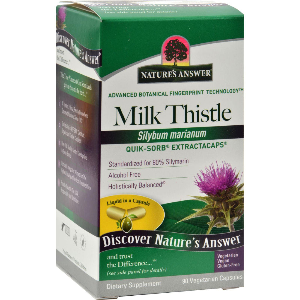 Nature's Answer Extractacaps Milk Thistle - 90 Veggie Caps-Nature's Answer-pantryperks