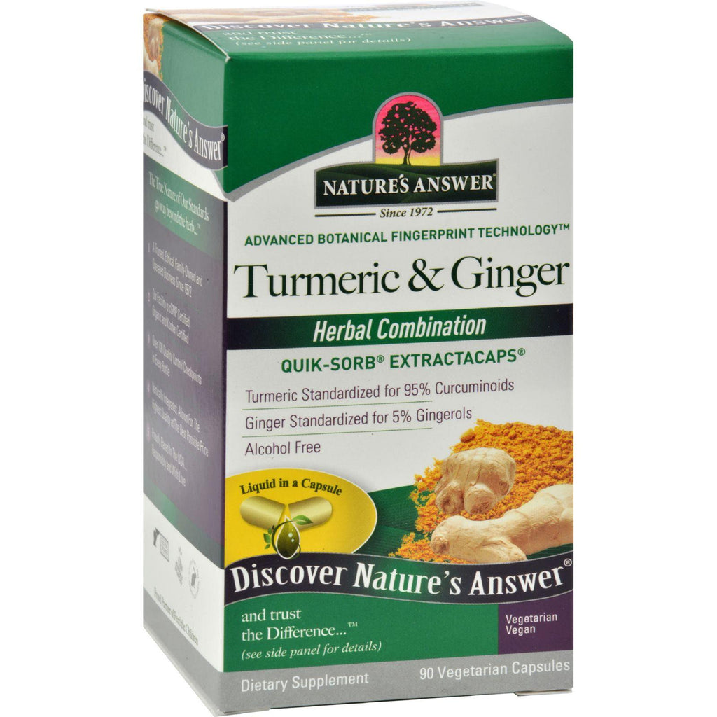Nature's Answer Extractacaps Turmeric And Ginger - 90 Veggie Caps-Nature's Answer-pantryperks
