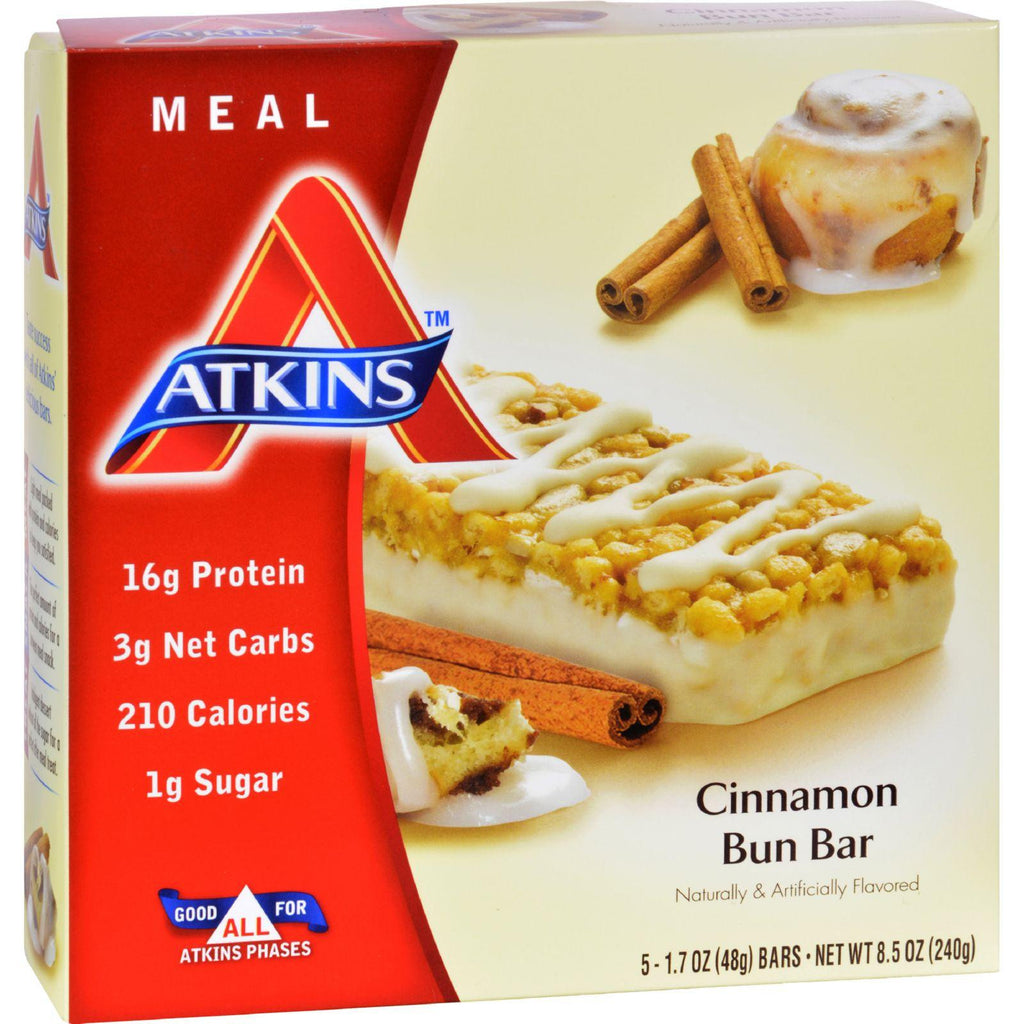 Atkins Advantage Bar Cinnamon Bun - 5 Bars-Atkins-pantryperks
