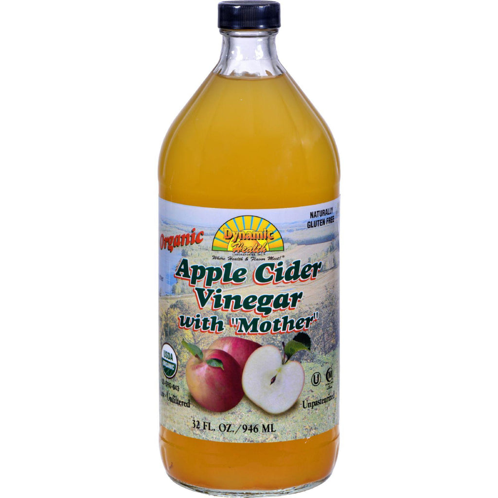Dynamic Health Apple Cider Vinegar - Organic With Mother - 32 Oz-Dynamic Health-pantryperks