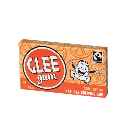 Glee Gum All Natural Chewing Gum Tangerine - 16 Pieces-Glee Gum-pantryperks