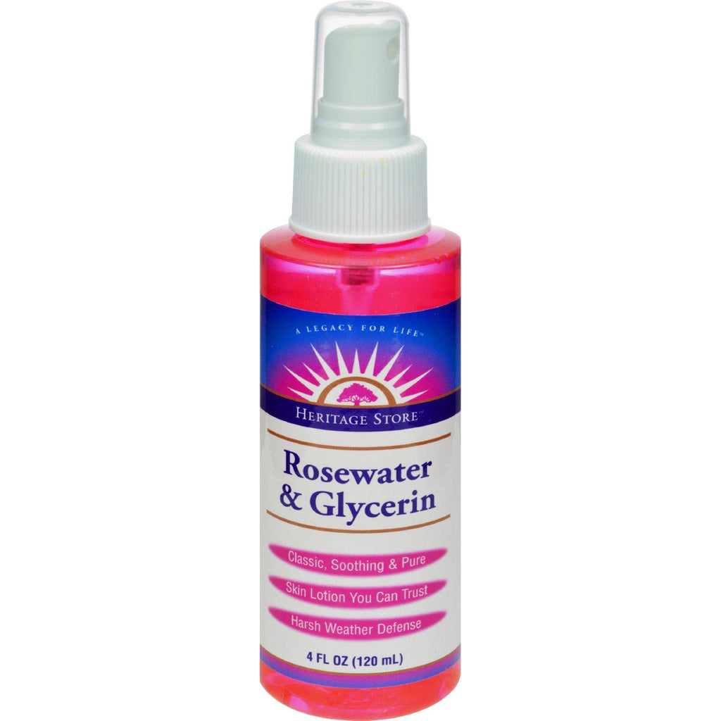 Heritage Products Atomizer Mist Sprayer Rosewater and Glycerin - 4 fl oz-Heritage Products-pantryperks