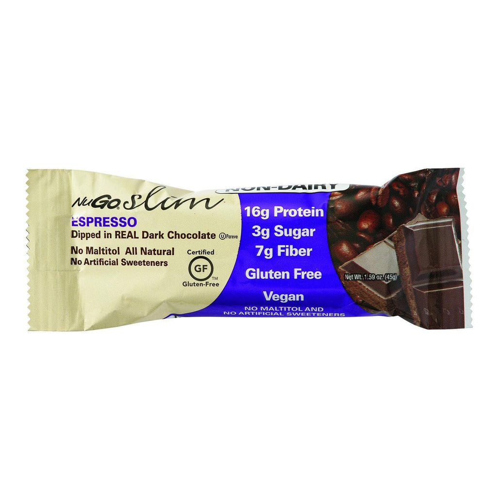 Nugo Nutrition Bar - Slim - Espresso - 1.59 Oz Bars - Case Of 12-Nugo Nutrition-pantryperks