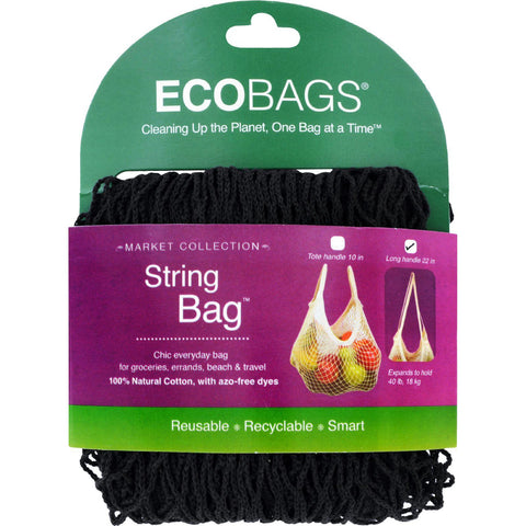 Ecobags Market Collection String Bags Long Handle - Black - 10 Bags-Ecobags-pantryperks