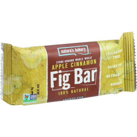 Nature's Bakery Stone Ground Whole Wheat Fig Bar Twin Pack Apple Cinnamon - 2 oz-Nature's Bakery-pantryperks