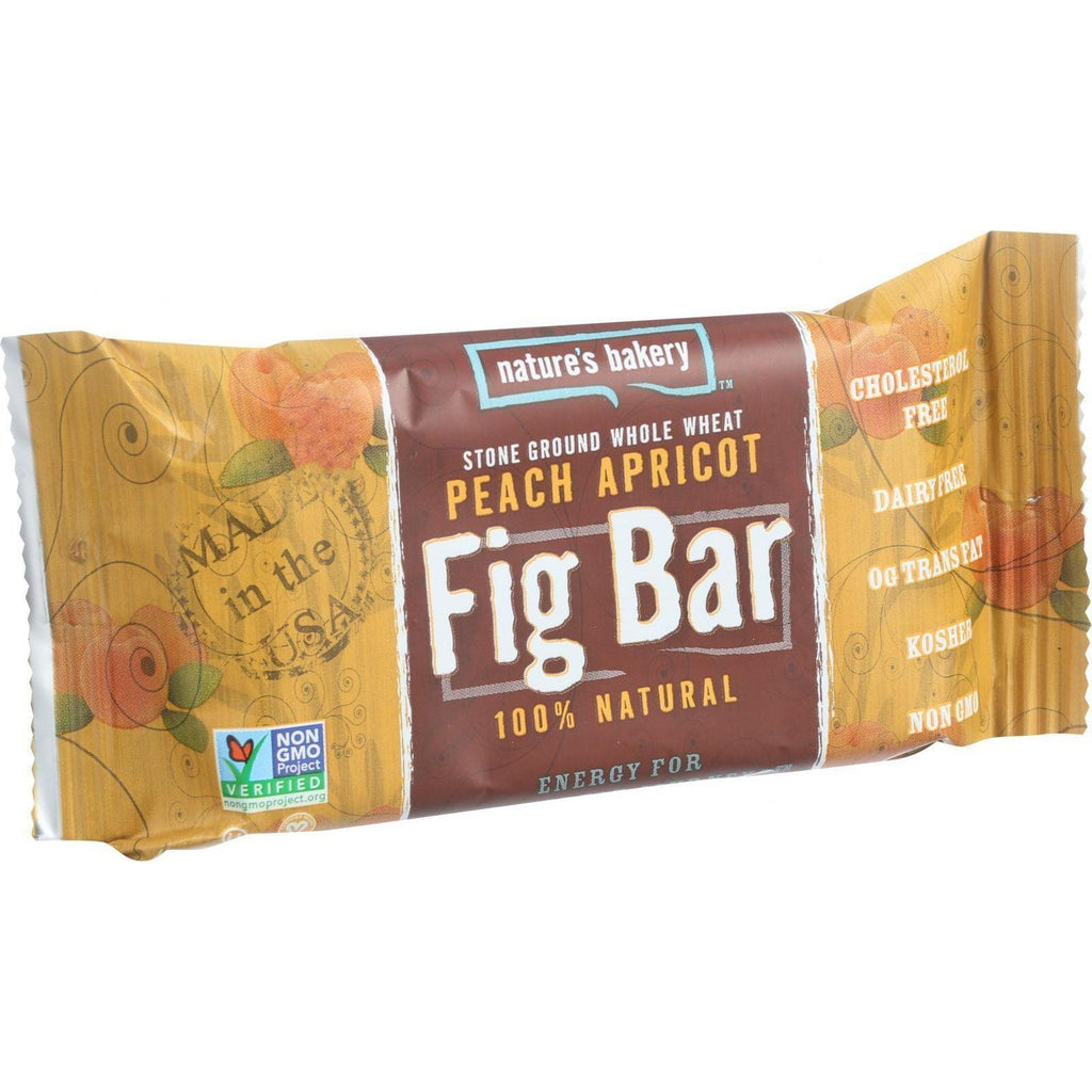 Nature's Bakery Stone Ground Whole Wheat Fig Bar Twin Pack Peach Apricot - 2 oz-Nature's Bakery-pantryperks
