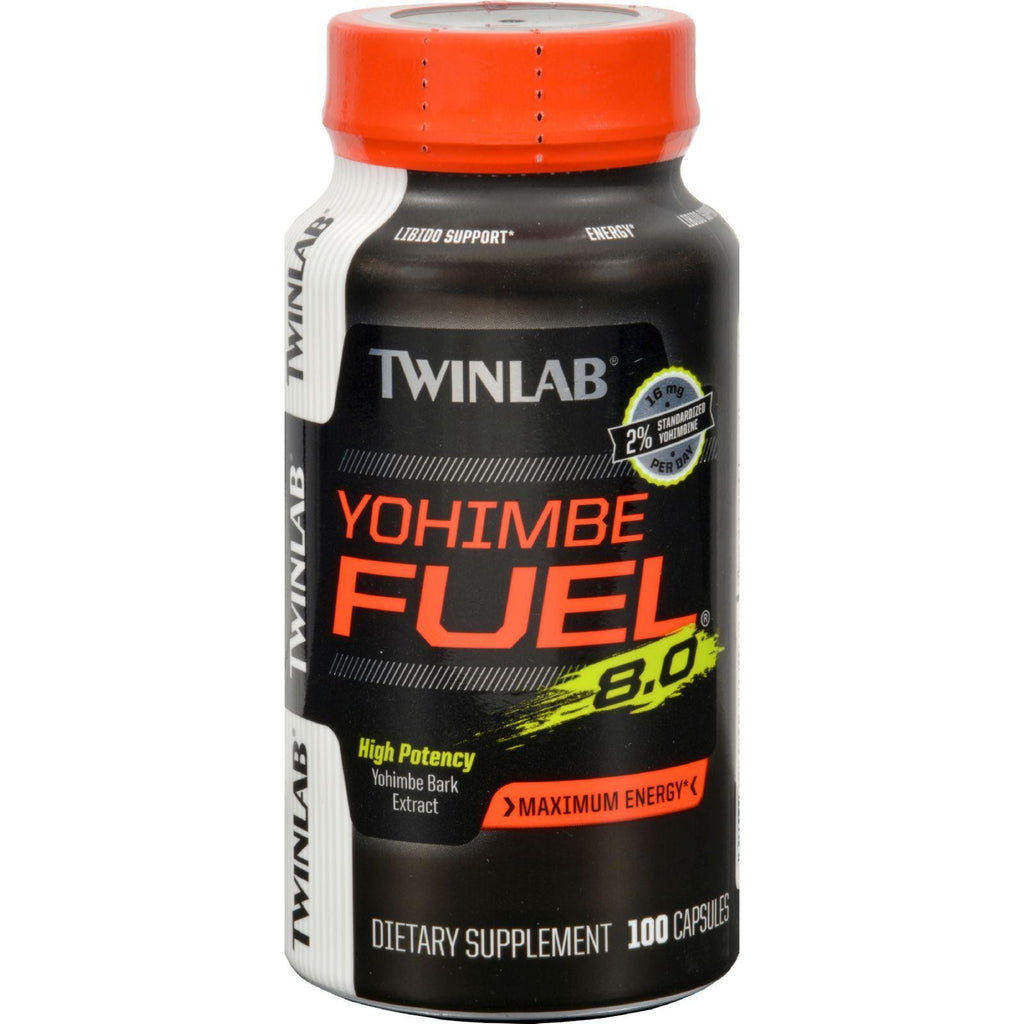 Twinlab Yohimbe Fuel 8.0 Maximum Energy - 100 Caps-Twinlab-pantryperks