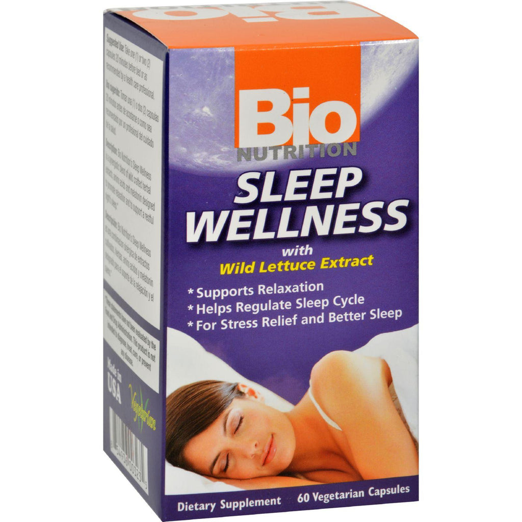 Bio Nutrition Sleep Wellness - 60 Vcaps-Bio Nutrition-pantryperks