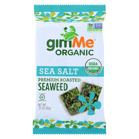 GimMe Organic Roasted Seaweed Snacks Sea Salt - 0.35 oz-Gimme Seaweed Snacks-pantryperks
