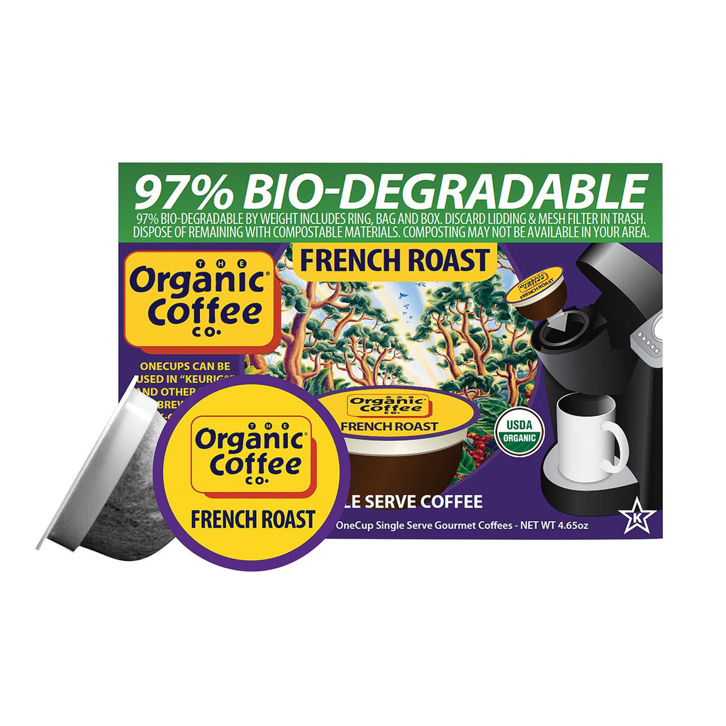 Organic Coffee Company Onecups - French Roast - Case Of 6 - 4.65 Oz.-Organic Coffee-pantryperks