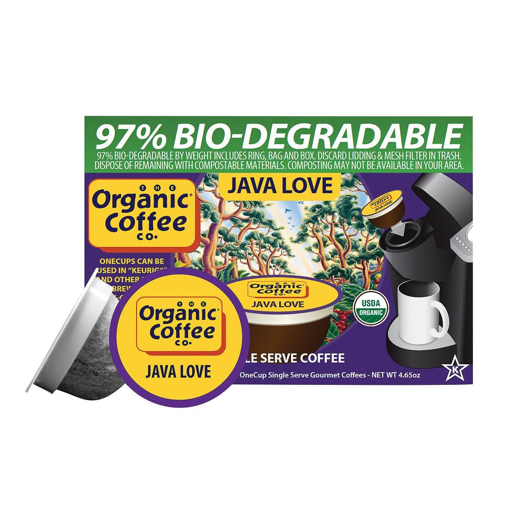 Organic Coffee Company Onecups - Java Love - Case Of 6 - 4.65 Oz.-Organic Coffee-pantryperks