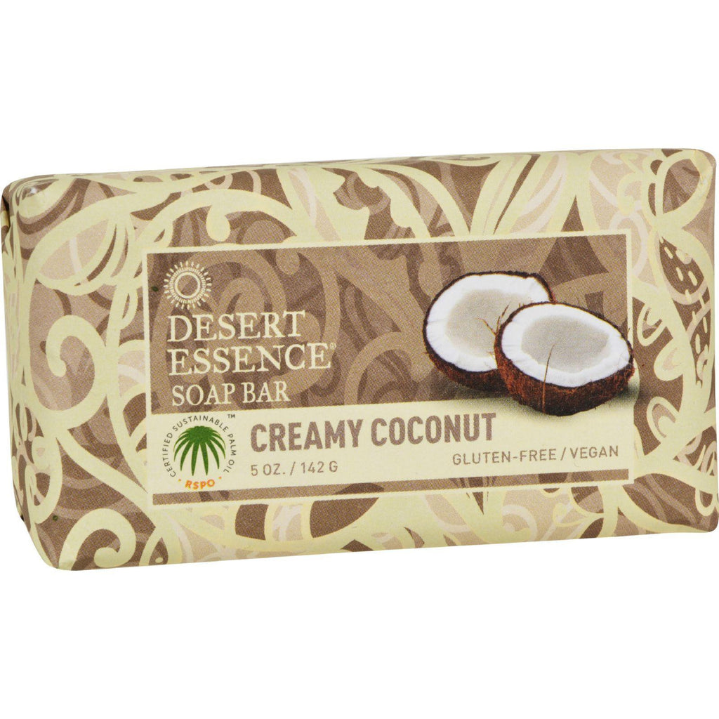 Desert Essence Soap Bar Creamy Coconut - 5 oz-Desert Essence-pantryperks