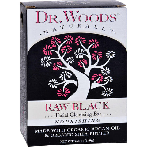 Dr. Woods Face Cleansing Bar - Raw Black - 5.25 Oz-Dr. Woods-pantryperks