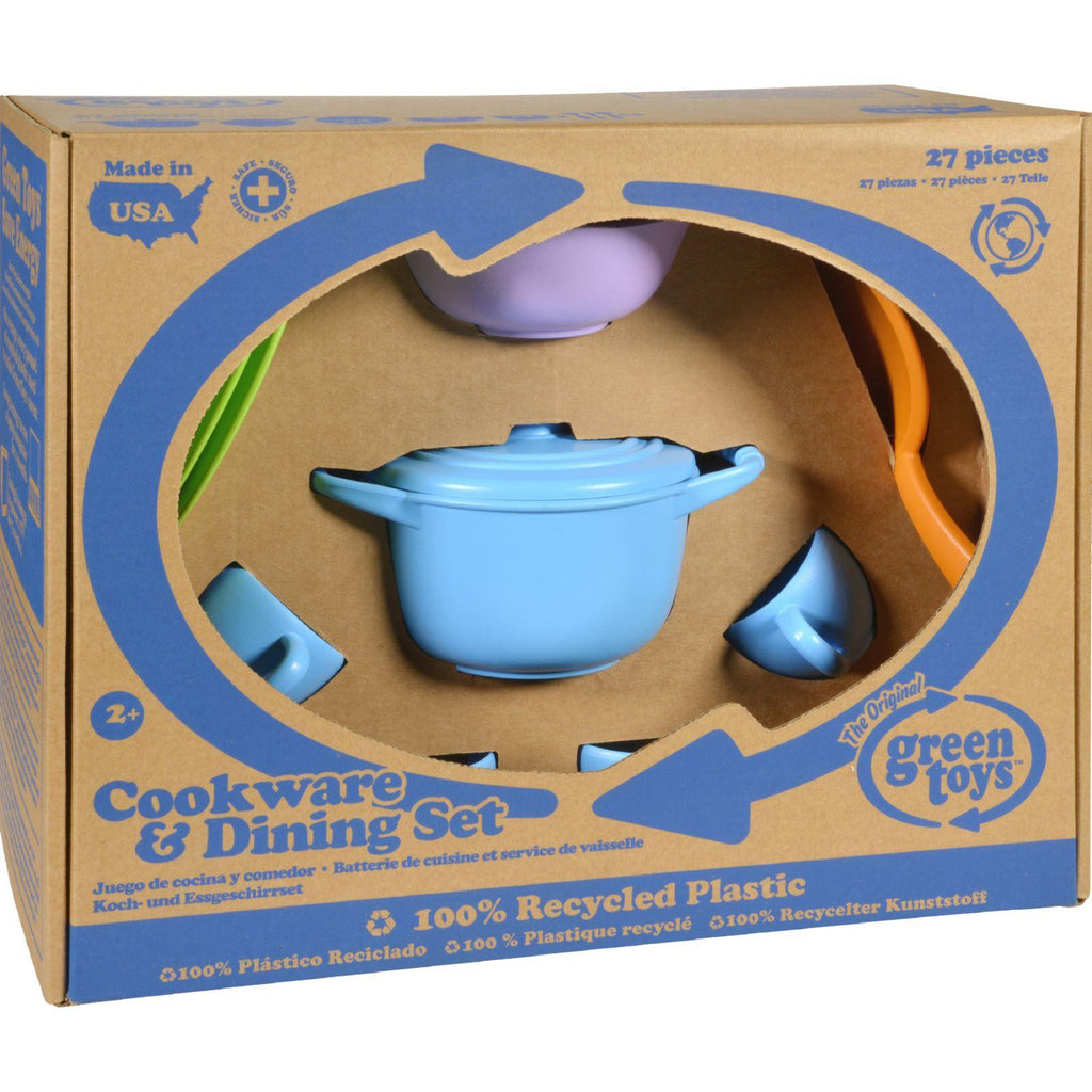 Green Toys Cookware And Dinnerware Set - 27 Piece Set-Green Toys-pantryperks