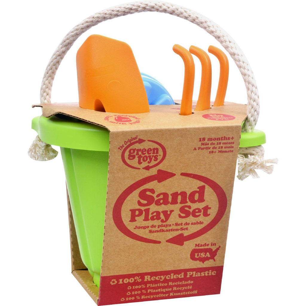Green Toys Sand Play Set - Green - 4 Piece-Green Toys-pantryperks