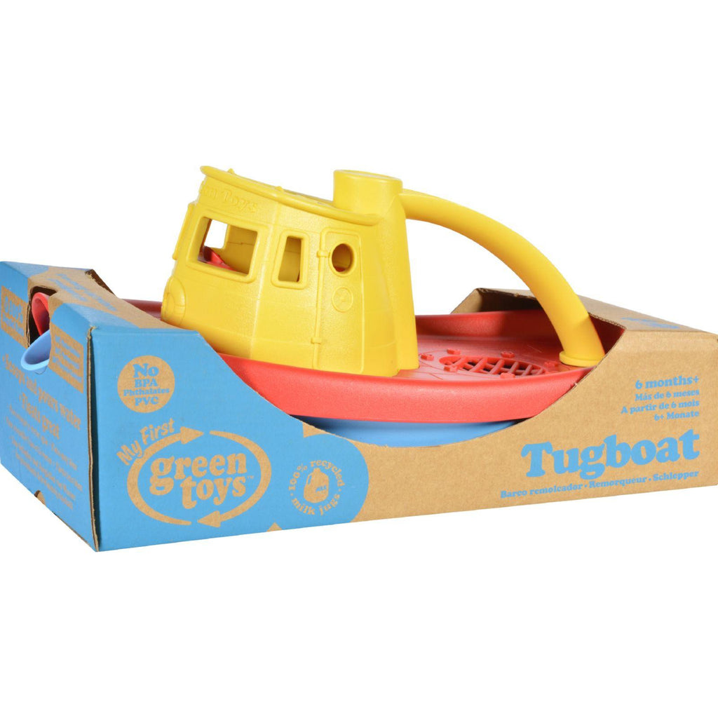 Green Toys Tug Boat - Yellow-Green Toys-pantryperks
