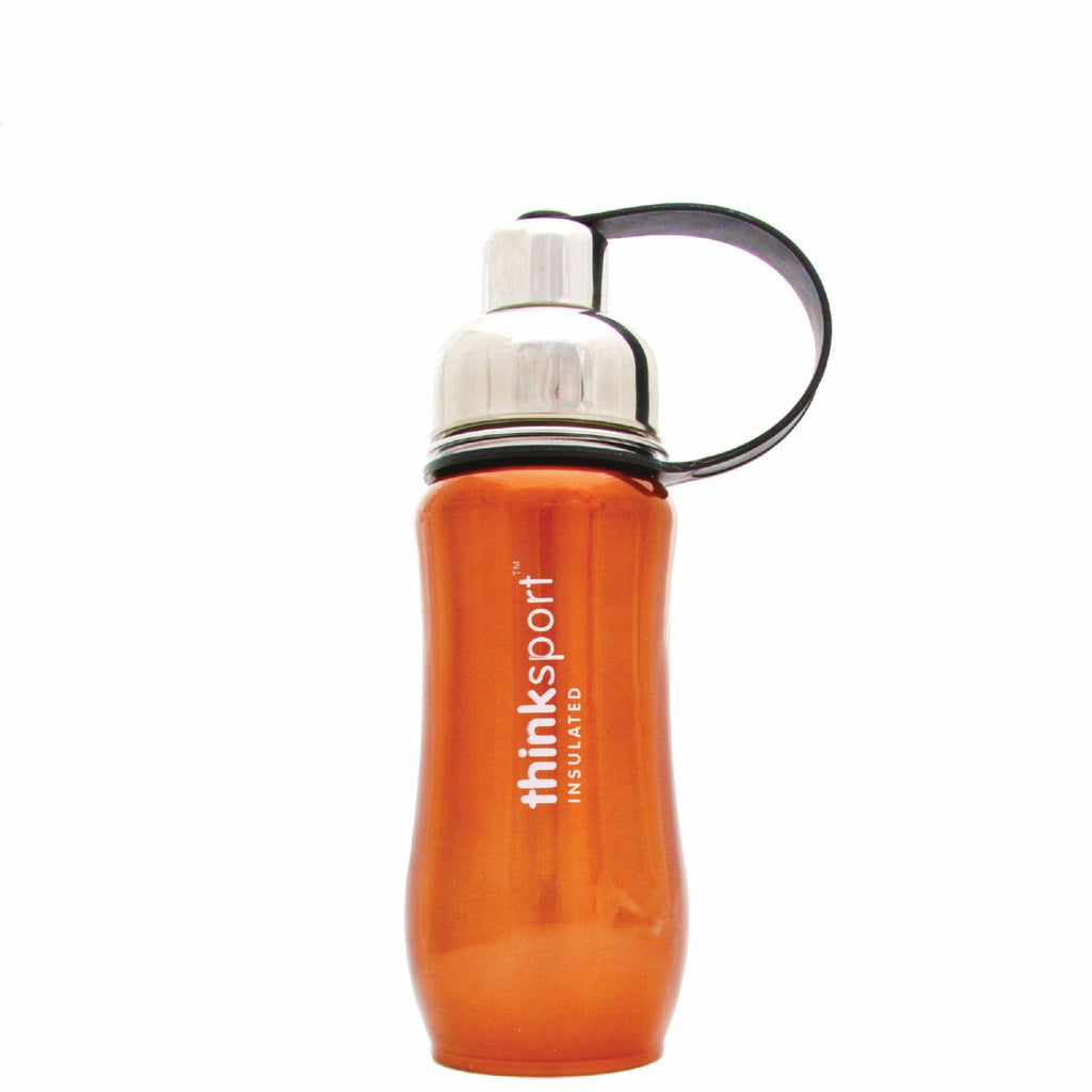 Thinksport Stainless Steel Sports Bottle - Orange - 12 Oz-Thinksport-pantryperks