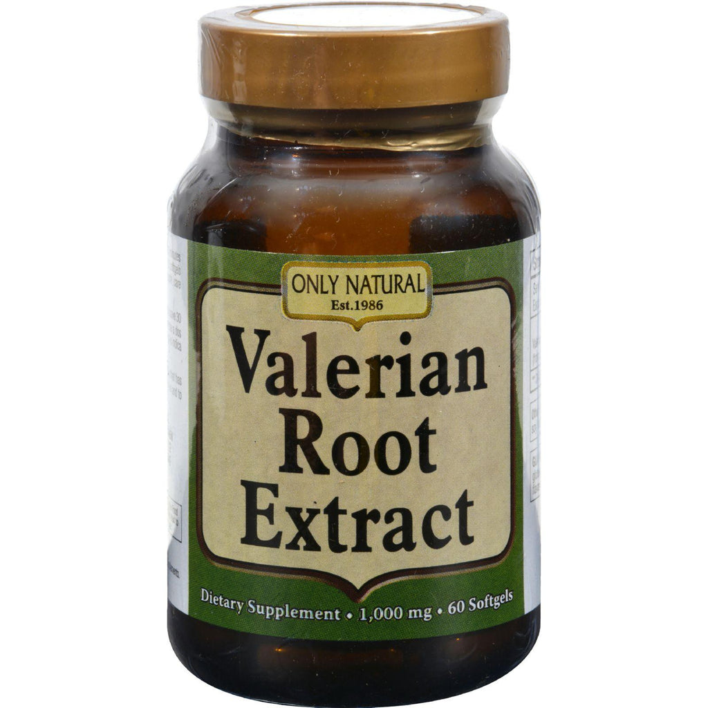 Only Natural Valerian Root Extract - 60 Softgels-Only Natural-pantryperks