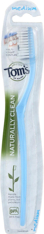 Tom's of Maine Naturally Clean Medium Toothbrush - 0.5 Ounce-Tom's Of Maine-pantryperks