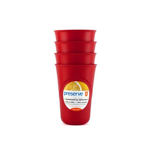 Preserve Everyday Cups - Pepper Red - 4 Packs-Preserve-pantryperks