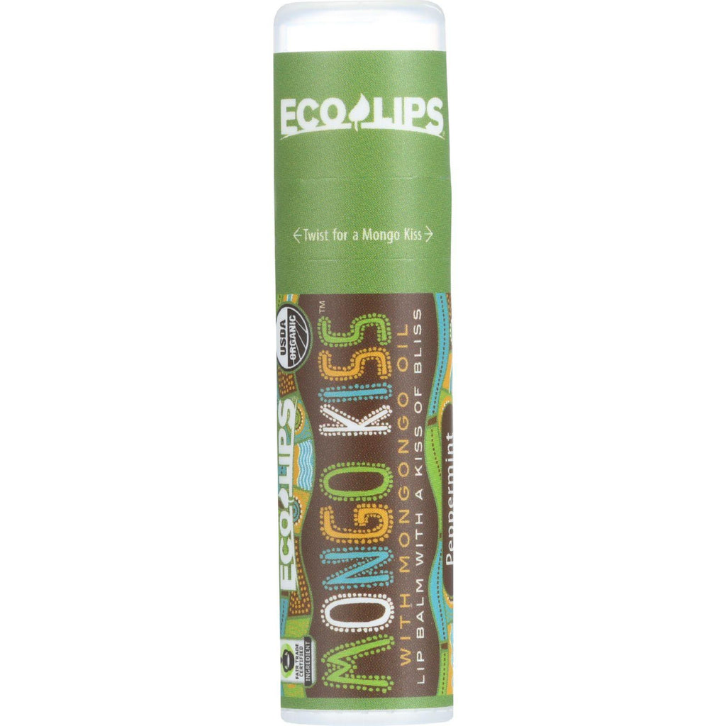 Mongo Kiss Display Center - Lip Balm - Organic - Eco Lips - Peppermint - .25 Oz - Case Of 15-Mongo Kiss-pantryperks