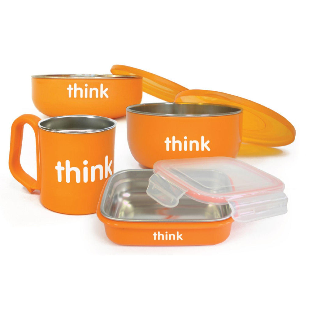 Thinkbaby Feeding Set - Bpa Free - Orange-Thinkbaby-pantryperks