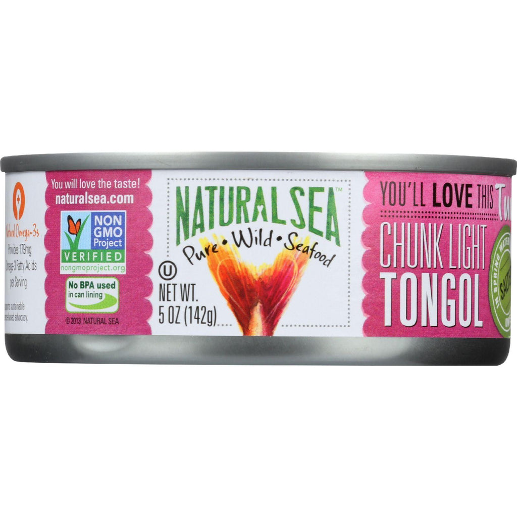 Natural Sea Tuna - Tongol - Chunk Light - Salted - 5 Oz - Case Of 12-Natural Sea-pantryperks