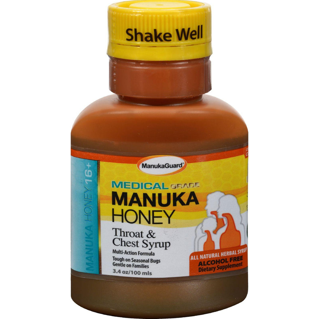 Manukaguard Throat And Chest Syrup - 100 Ml - 3.4 Fl Oz-Manukaguard-pantryperks