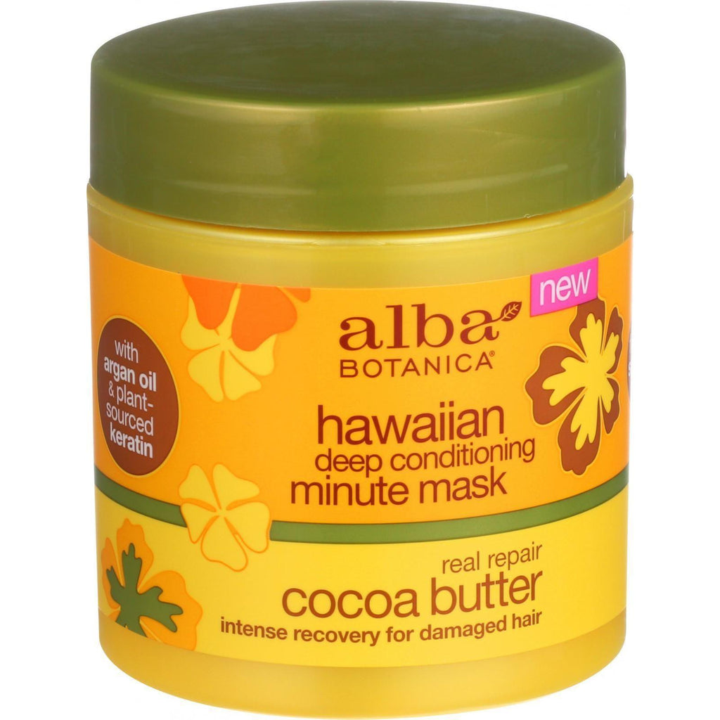Alba Botanica Deep Conditioning Minute Mask - Hawaiian - Real Repair Cocoa Butter - 5.5 Oz-Alba Botanica-pantryperks