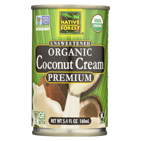 Native Forest Organic Premium Coconut Cream - Unsweetened - 5.4 Ounce-Native Forest-pantryperks
