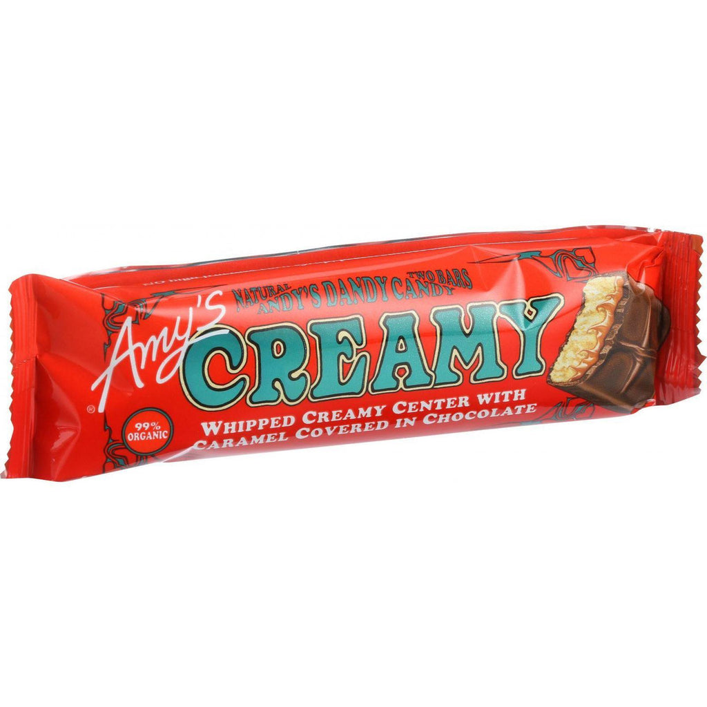 Amy's Organic Andy's Dandy Candy Bar - Creamy - 2 Oz Bars - Case Of 12-Amy's-pantryperks