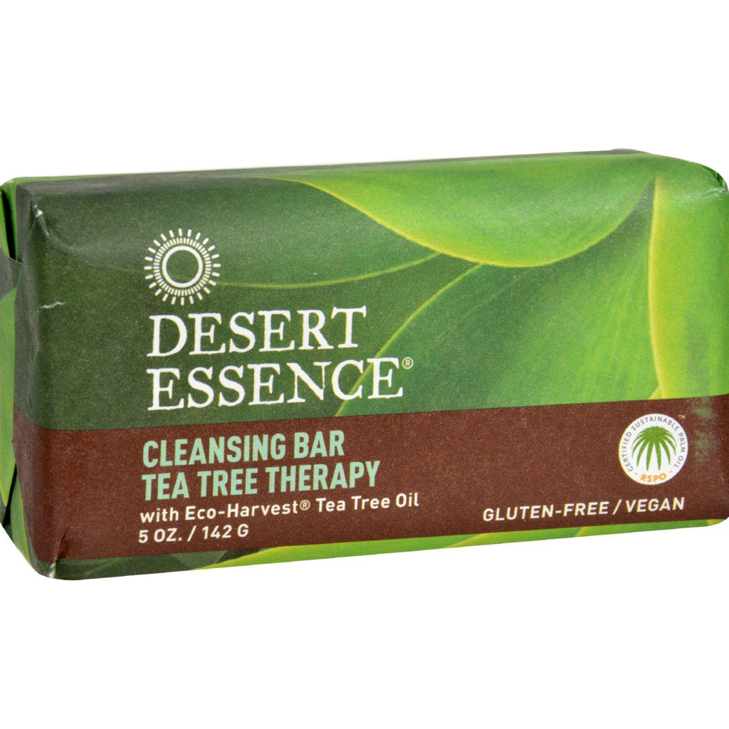 Desert Essence Cleansing Bar Tea Tree Therapy - 5 oz-Desert Essence-pantryperks