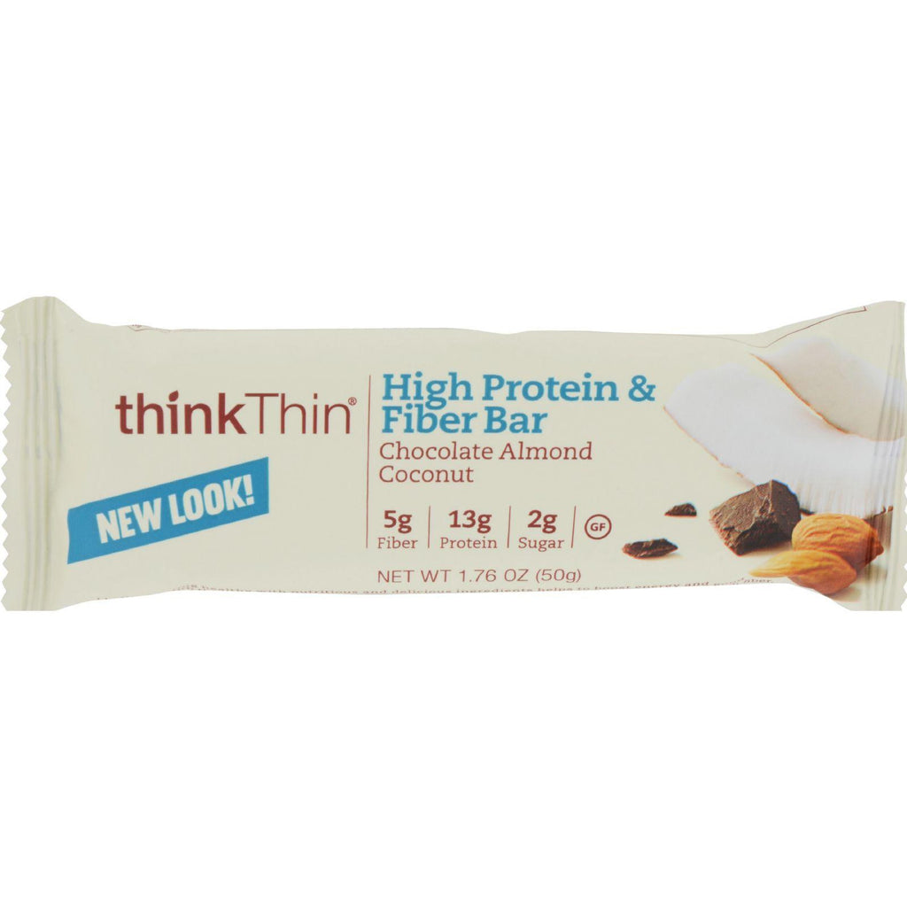 Think Products Bars - Thinkthin Chocolate Almond Coconut Protein Plus Fiber - 1.76 Oz - Case Of 10-Think Products-pantryperks